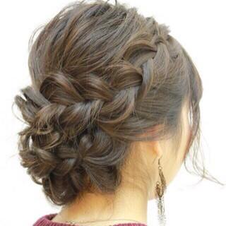 アップスタイル パーティ ヘアアレンジ 簡単ヘアアレンジ ヘアスタイルや髪型の写真・画像