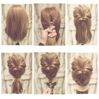 大人女子 ショート 簡単ヘアアレンジ セミロング ヘアスタイルや髪型の写真・画像