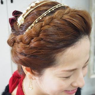 三つ編み 簡単ヘアアレンジ ショート 編み込み ヘアスタイルや髪型の写真・画像