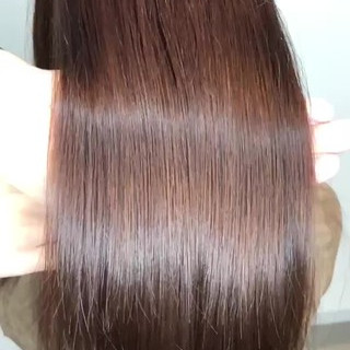 トリートメント セミロング 髪質改善カラー ナチュラル ヘアスタイルや髪型の写真・画像