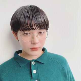 前髪あり 外国人風 ストレート 抜け感 ヘアスタイルや髪型の写真・画像