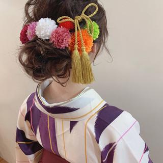 成人式 簡単ヘアアレンジ 卒業式 ナチュラル ヘアスタイルや髪型の写真・画像