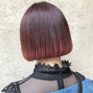 ストリート 外国人風カラー ピンク ボブ ヘアスタイルや髪型の写真・画像