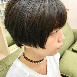 かっこいい モード 暗髪 ショート ヘアスタイルや髪型の写真・画像