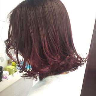 外国人風 グラデーションカラー ミディアム ハイライト ヘアスタイルや髪型の写真・画像