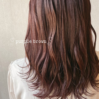 透明感カラー ガーリー ラベンダーアッシュ アッシュブラウン ヘアスタイルや髪型の写真・画像