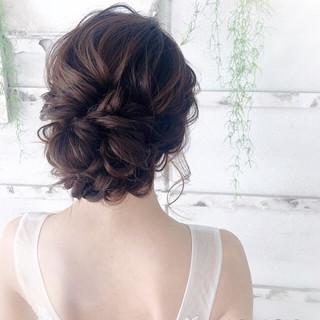 花嫁 結婚式 ショートヘア ロング ヘアスタイルや髪型の写真・画像