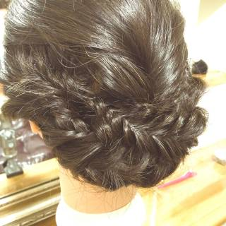 フィッシュボーン ヘアアレンジ ナチュラル ロング ヘアスタイルや髪型の写真・画像