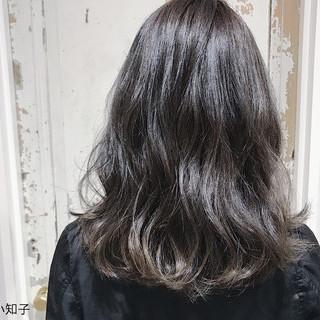 モード ブルージュ 黒髪 グラデーションカラー ヘアスタイルや髪型の写真・画像