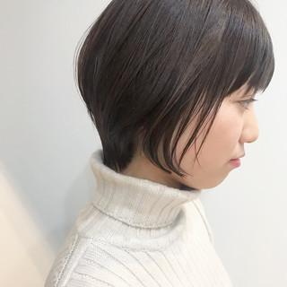 ナチュラル ショート 小顔ショート デート ヘアスタイルや髪型の写真・画像