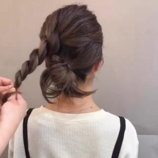 デート アウトドア ヘアアレンジ ナチュラル ヘアスタイルや髪型の写真・画像