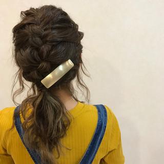 簡単ヘアアレンジ 編み込み 大人女子 ヘアアレンジ ヘアスタイルや髪型の写真・画像