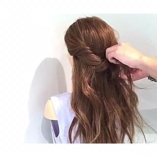 女子会 リラックス 簡単ヘアアレンジ 涼しげ ヘアスタイルや髪型の写真・画像