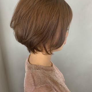 ショート 大人可愛い ショートボブ 丸みショート ヘアスタイルや髪型の写真・画像