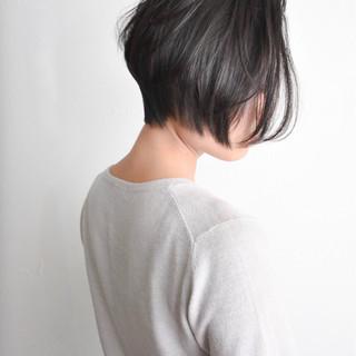 ショートボブ ボブ ショート ナチュラル ヘアスタイルや髪型の写真・画像