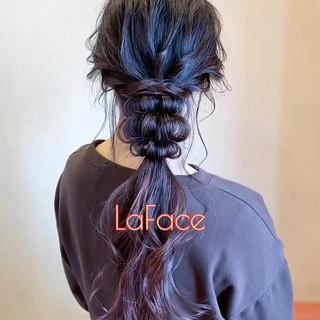 ポニーテールアレンジ ヘアアレンジ フェミニン ロング ヘアスタイルや髪型の写真・画像