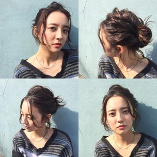 外国人風 ショート 簡単ヘアアレンジ ヘアアレンジ ヘアスタイルや髪型の写真・画像