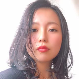 エレガント セミロング 上品 ボーイッシュ ヘアスタイルや髪型の写真・画像