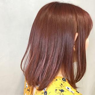 ボブ ピンク ラベンダーピンク ベリーピンク ヘアスタイルや髪型の写真・画像