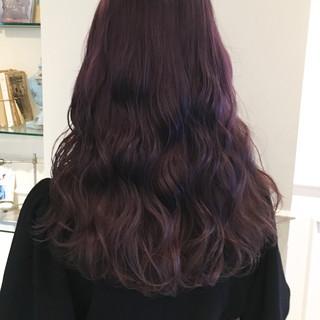 ロング ゆるふわ ピンク 透明感 ヘアスタイルや髪型の写真・画像
