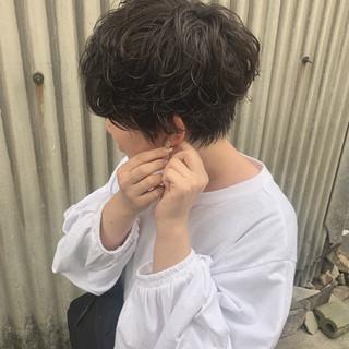 デート 黒髪 ショート 簡単ヘアアレンジ ヘアスタイルや髪型の写真・画像