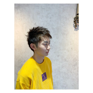 メンズショート メンズヘア アッシュ ナチュラル ヘアスタイルや髪型の写真・画像