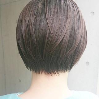 ショートボブ 黒髪ショート ナチュラル ショートカット ヘアスタイルや髪型の写真・画像
