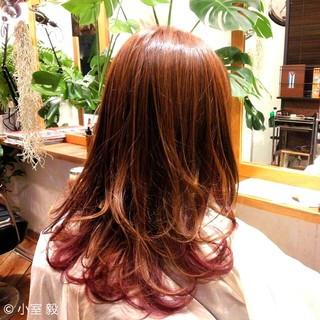 艶髪 ブラウン ストリート グラデーションカラー ヘアスタイルや髪型の写真・画像