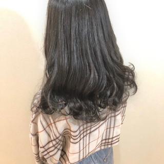 ナチュラル ロング 就活 グレージュ ヘアスタイルや髪型の写真・画像