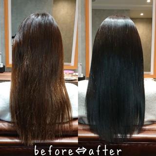 縮毛矯正 髪質改善トリートメント 美髪 トリートメント ヘアスタイルや髪型の写真・画像