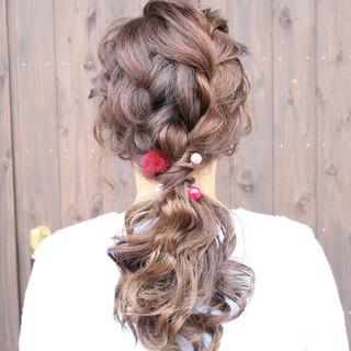 ロング ゆるふわ 結婚式 ヘアアレンジ ヘアスタイルや髪型の写真・画像