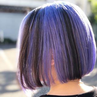 ハイライト ストリート インナーカラー ユニコーンカラー ヘアスタイルや髪型の写真・画像