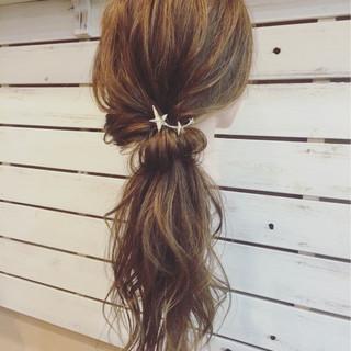 ゆるふわ 簡単ヘアアレンジ 大人かわいい ロング ヘアスタイルや髪型の写真・画像
