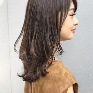 ミディアム デジタルパーマ ナチュラル 大人ミディアム ヘアスタイルや髪型の写真・画像