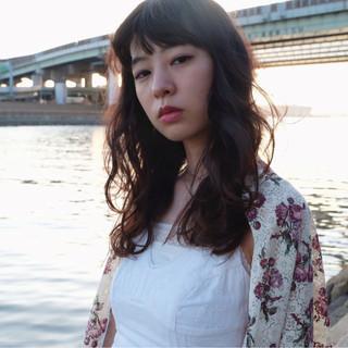 ふわふわ 外国人風カラー グラデーションカラー セミロング ヘアスタイルや髪型の写真・画像