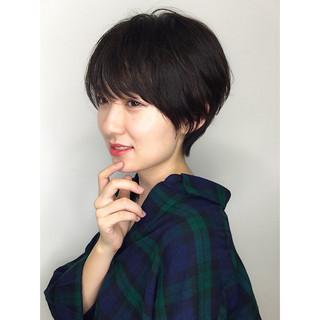 パーマ ショート ナチュラル 大人女子 ヘアスタイルや髪型の写真・画像
