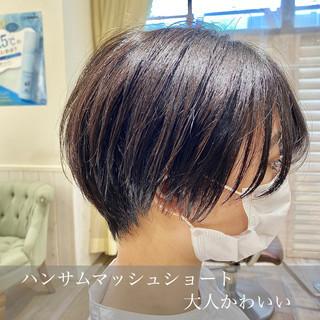 ショートヘア ベリーショート ナチュラル ショートボブ ヘアスタイルや髪型の写真・画像