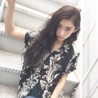 モード ロング ストリート 暗髪 ヘアスタイルや髪型の写真・画像