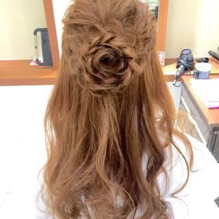 結婚式 ヘアアレンジ 愛され コンサバ ヘアスタイルや髪型の写真・画像