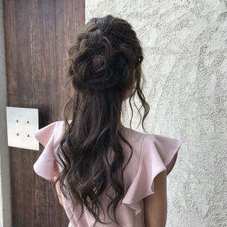パーティ ロング デート ヘアアレンジ ヘアスタイルや髪型の写真・画像