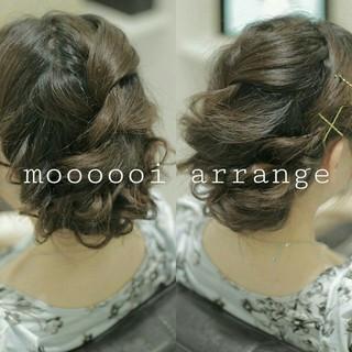 ヘアアレンジ ゆるふわ 簡単ヘアアレンジ 編み込み ヘアスタイルや髪型の写真・画像