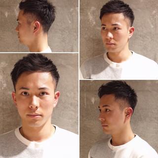 ナチュラル メンズショート ツーブロック 刈り上げ ヘアスタイルや髪型の写真・画像