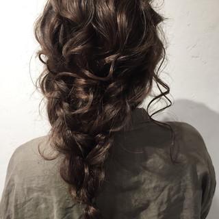 編み込み ヘアアレンジ 結婚式 簡単ヘアアレンジ ヘアスタイルや髪型の写真・画像