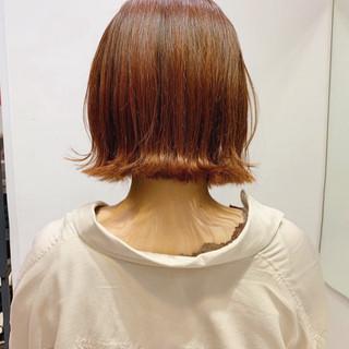 ナチュラル ミニボブ 切りっぱなしボブ 外国人風フェミニン ヘアスタイルや髪型の写真・画像