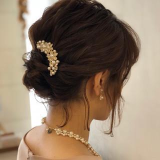 結婚式 デート ナチュラル ミディアム ヘアスタイルや髪型の写真・画像