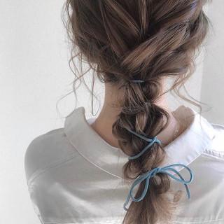 ヘアアレンジ ナチュラル アウトドア デート ヘアスタイルや髪型の写真・画像