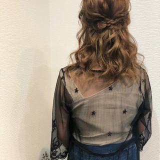 編み込みヘア ヘアセット ミディアム 結婚式 ヘアスタイルや髪型の写真・画像