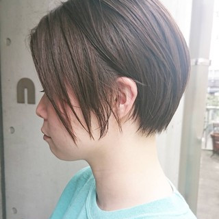 黒髪ショート ショート ショートカット ベリーショート ヘアスタイルや髪型の写真・画像