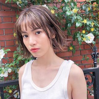 簡単ヘアアレンジ 色気 ショート ナチュラル ヘアスタイルや髪型の写真・画像