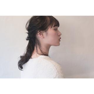 デート ウェーブ ヘアアレンジ ナチュラル ヘアスタイルや髪型の写真・画像